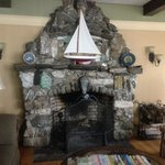 fireplace made from stone quarry