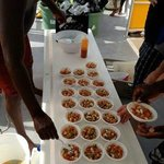 Conch salad with the conch that we caught!