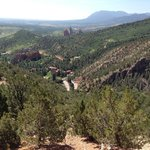 On property trail that takes you to view point looking at Castle and Garden of the Gods