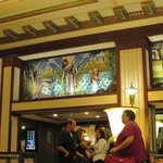 Wall mural from lobby.