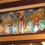 Wall mural from the lobby.