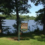 #18 tee box with gorgeous views of the Wisconsin River