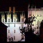 Le château vu de la fenêtre de la chambre