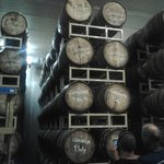 Barrels stacked high