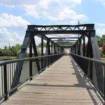 pedestrian bridge, Columbia Canal and Riverfront Park, June 2014