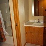 Second vanity next to bathroom