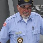 Vietnam veteran Edwin M Cotter serves as a volunteer docent aboard The Sullivans ship