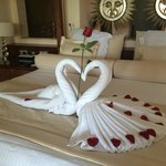 Romantic bed for our anniversary