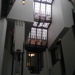 Stained glass windows from main staircase