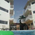 pool on garden side