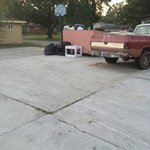 Trash in parking lot