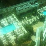 view of pools from room