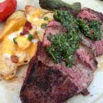 Cumin Crusted Skirt Steak (Fingerling Skins, Cheese, Jalapeno, Guanciale)
