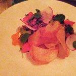Beef Tartare: (pickled radish, beer mustard,yolk)