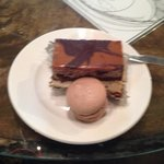 Five layer brownie and a Caramel macaroon.