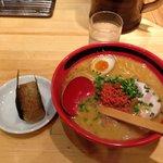 えびみそ・ほどほど・太麺+えびおにぎり