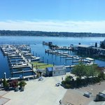 Bremerton waterfront and marina from Hampton Inn 4th floor