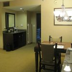 view from dining area of suite