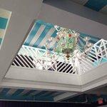 Handmade glass chandelier