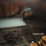 One of onsen room at night