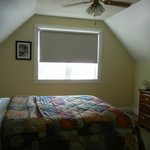 upstairs bedroom with view over lake