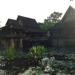 View of the house from the lagoon