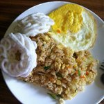Ari's Nasi Goreng Estimewa- Owner W.Ari cooked special breakfast rice himself upon request, the