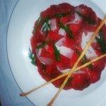 King Valley Beef Carpaccio, Truffle Pecorino