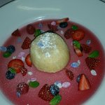 Citrus Mousse and Strawberry Champagne Jelly