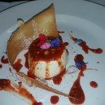 Almond Milk Panna Cotta, Blood Orange Sauce