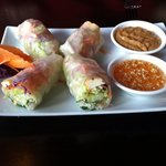 Delicious fresh Thai salad rolls