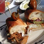 Flash Fried Maryland Softshell Crab Po'Boy sandwich