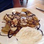 Nutella Crepes w/bananas