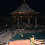 Bar area at poolside