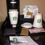 Cafe Starbucks en la habitación