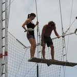 They were fantastic at easing our nerves and helping us learn. Oh & they were great at trapeze t