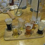 You can get flights of beer to sample.