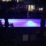 serenity pool at night