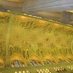 The ceiling mosaic art