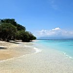 The beach on Gili Trawangan