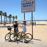 through muscle beach and onto venice.