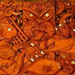 """Maori Carving - """"Tangaroa (God of the Sea) & Rua Te-Pupuke"""""""