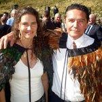 "Gallery Hosts wearing Korowai - ""Maori Cloaks"""