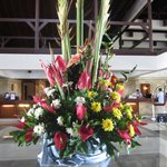 Beautiful fresh flowers in the front lobby
