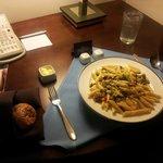 Pasta served @ my room