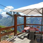 Notre table sur la terrasse panoramique
