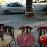 sidewalk seating...