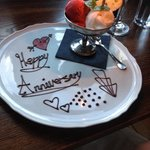 What a lovely touch for our anniversary meal - thank you!