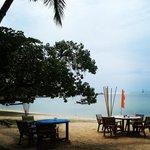 Think & Retro café beach terrace