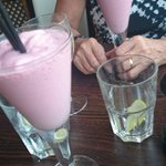 Frozen strawberry daiquiri's with our pudding!
